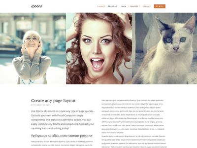 Spoons WordPress Theme Carousel envato themeforest little neko web design business theme wordpress