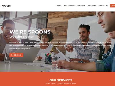 Spoons WordPress Boxed envato themeforest little neko web design business theme ux ui wordpress