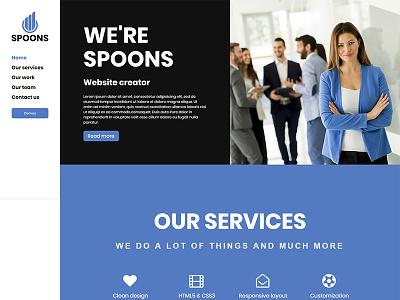 Spoons WordPress Side Menu business theme wordpress envato themeforest little neko ux ui web design