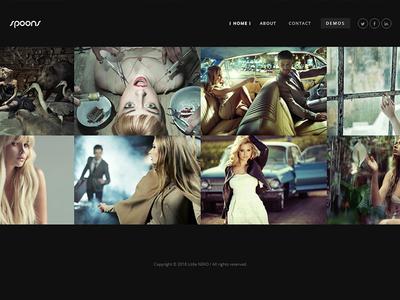 Spoons Portfolio Dark Demo envato themeforest little neko web design business theme ux ui wordpress