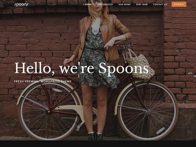 Spoons One Page envato themeforest little neko web design business theme ux ui wordpress