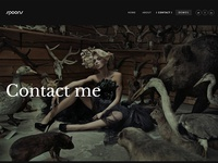 Portfolio Dark Contact page