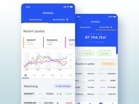 Stock exchange - mobile application