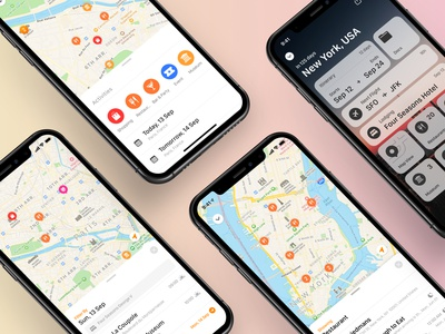 Tripsy Map View icons ios travel app map