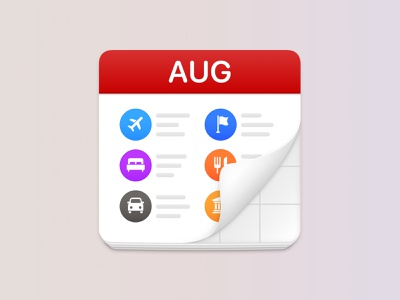 Calendar Sync trip ios travel calendar icon