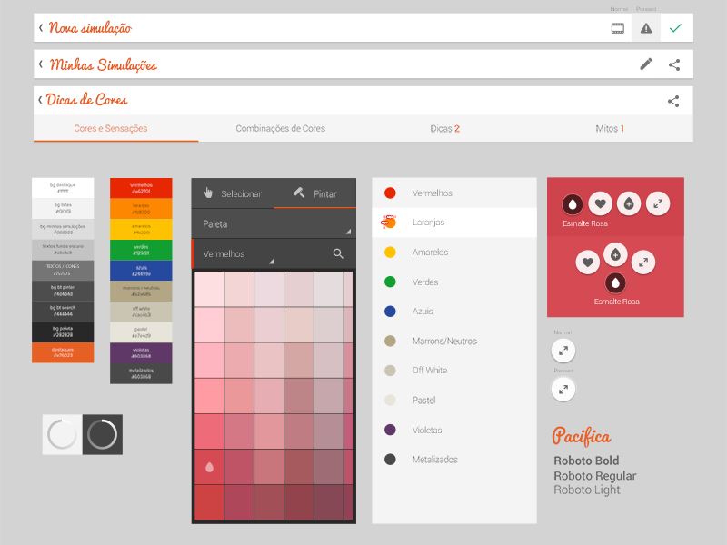 Android App Styleguide color app android tablet style guide