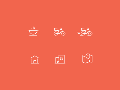 SpoonRocket service icons