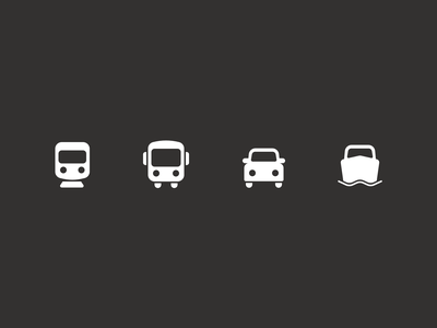 Transport icons travel app icons set icons