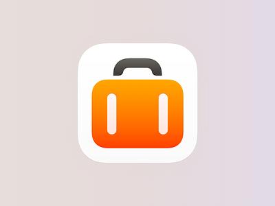 App Icon for Tripsy 2.0 suitcase trip app icon app ios
