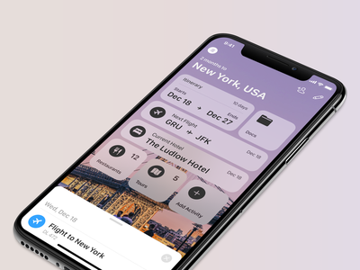 Tripsy 2.0 icons drawer ios13 organize travel ios app