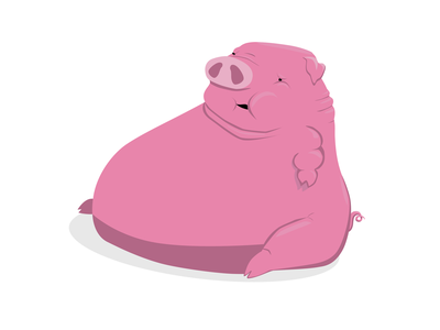ugly pig pink pig swine logo vector ugly illustration design illustration icon graphic design flat farm domestic design cartoon art caricature animal 2d art