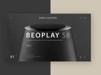 BANG & OLUFSEN redesign practice :)