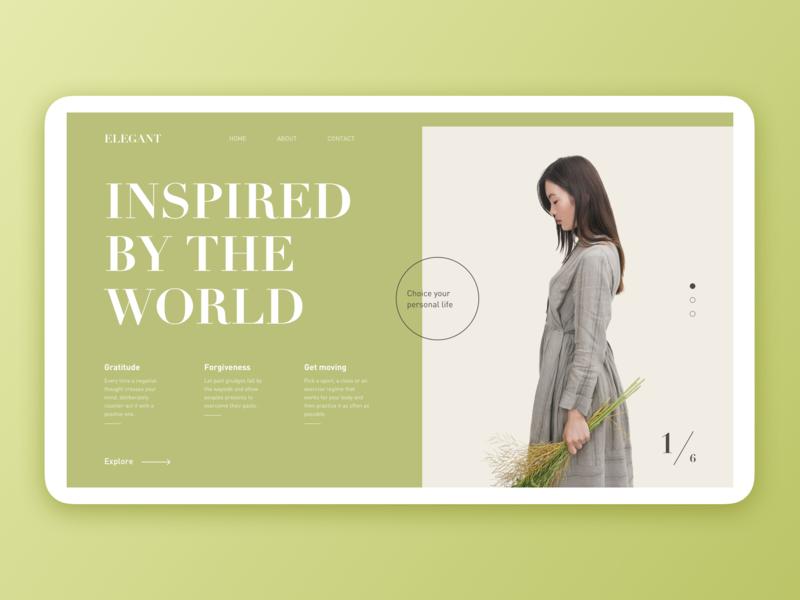 Elegant fashion design clear grid simple clean flat web ux ui