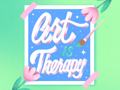 Art Is Therapy lettering artist lettering art typography design illustration typography hand lettering logo art is therapy hand lettering graphic design