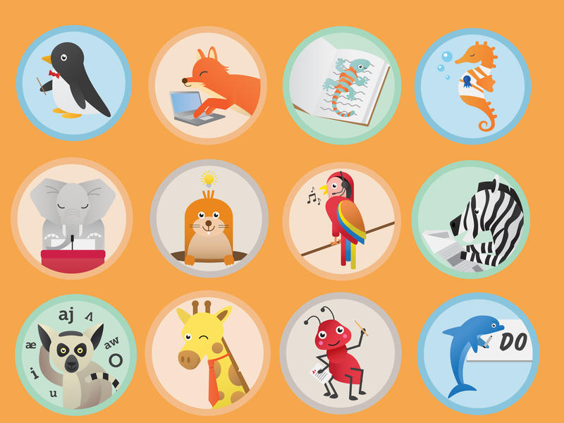 Animal Icons education animal illustration adobe illustrator graphic design iconography icon icon set