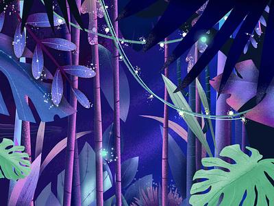 Mystic Jungle mystical fairy jungle illustration
