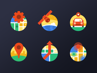 The Flat Map Icon