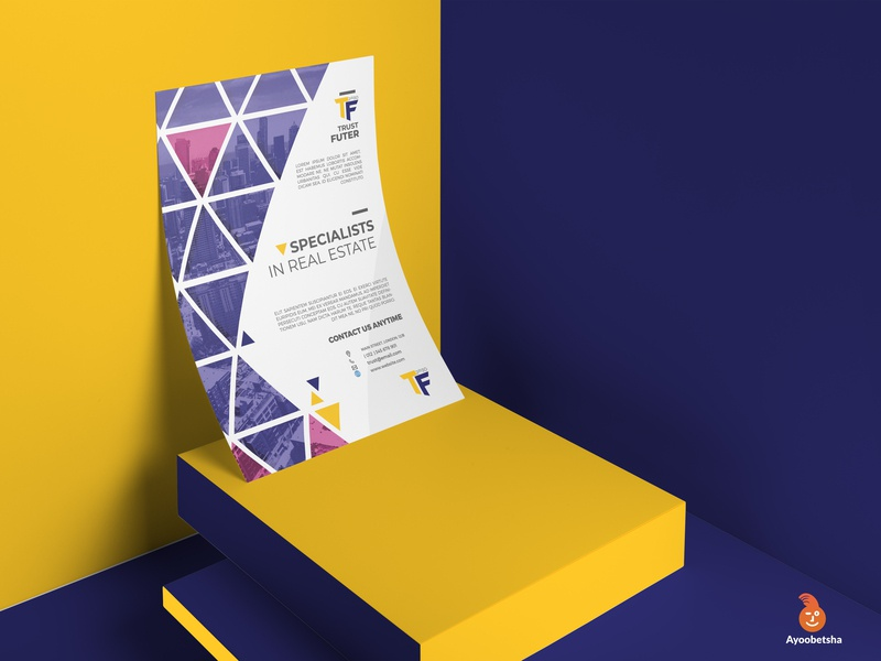 Tf poster branding design brand flyer