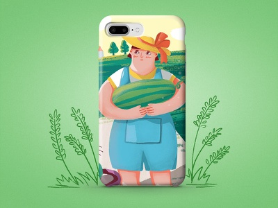 iPhone7/8P illustration,flat