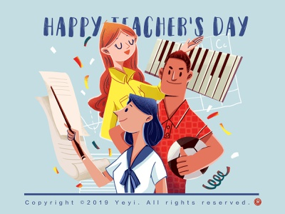 Happy Teacher's Day! illustration illustration,flat