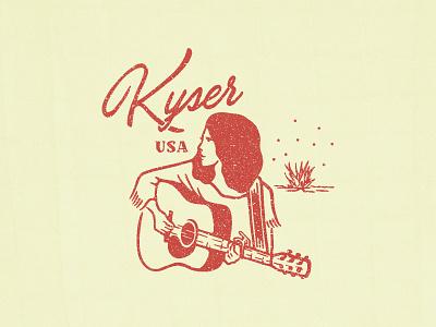 Kyser Musical Products vintage texas illustration branding shirt