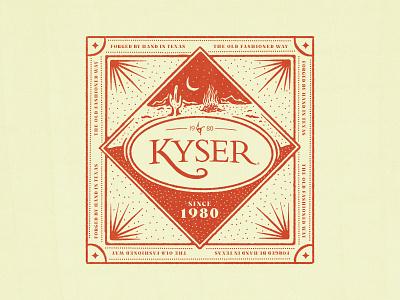 Kyser Musical Products vintage cactus fire bandana apparel texas branding illustration