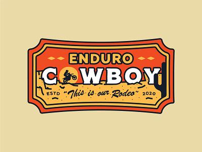 Enduro Cowboy racing cactus southwestern texas enduro dirtbike vintage apparel branding