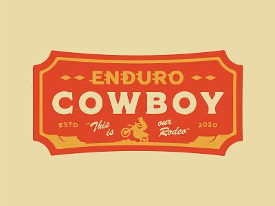 Enduro Cowboy sticker patch badge motocross dirtbike enduro southwestern vintage apparel branding