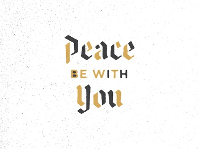 Peace be with You black gold dove peace church icon logo branding flowers coffee