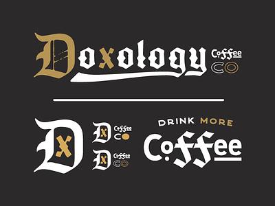 Local Coffee Shop black gold dove peace church icon logo branding coffee