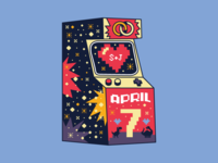 Arcade Game Wedding Graphic