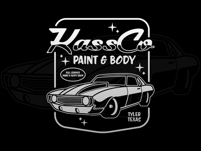 Paint and Body Shop Shirt apparel stars illustration shirt camaro retro vintage car