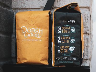 Coffee Bag Packaging illustration handletter packagedesign coffee shop bicycle coffee packaging texas branding