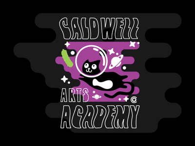 Elementary Arts Academy school stars apparel shirt space pickle kitty cat art