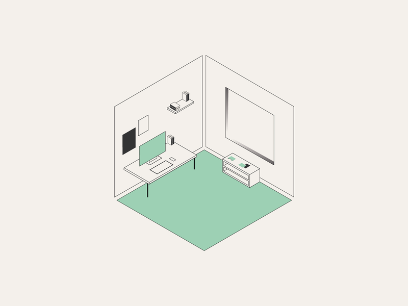Simple Setups workfromhome citylife goodvibesonly design isometric isolation illustration minimalism stay safe stayhome quarantine