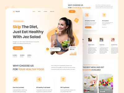 Fruit Salad Landing Page uidesign indonesia food order food eat health uiux startup modern yogyakarta ui design website landingpage salad