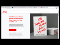 Desktop Landing Page: 100 Secrets of the Art World