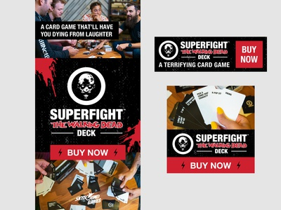 Banner Ads for The Walking Dead branded party game