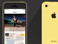 Flat iPhone 5c & Gallery App Concept