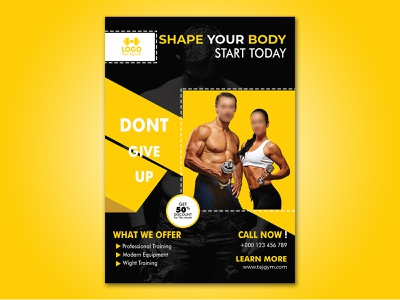 Energetic Fitness Poster illustrator flyer gym fitness graphic design photoshop poster