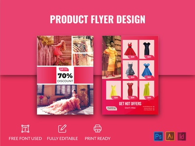 Creative Product flyer business pink price multipurpose modern market flyer flexible elegant editable discount customizable creative corporate company clean catalog a4 size a4