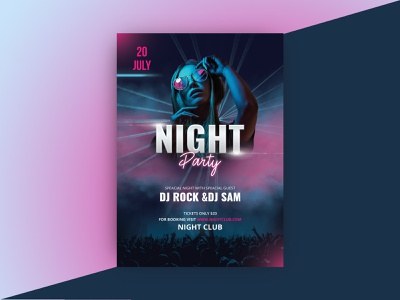 Party flyer colorful flyer colorful color light glamour nightclub ladies flyer glowing hiphop after work party facebook celebration flyer dance music party flyer nightparty night party bash