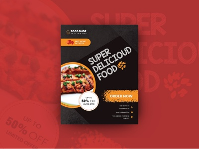 Delicious Food Flyer creative business flyer meal food flyer template restaurant menu templates restaurant menu restaurant print template menu design menu flyer template fast food flyer design business