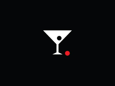 Scholar logo bar martini glass negative space designer branding logo designer icon cherry mark brand glass