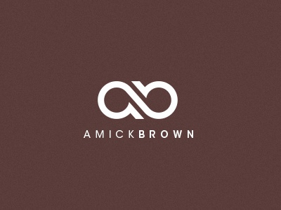 Amick Brown logo ab consulting brown connection letterform mark it solution infinite