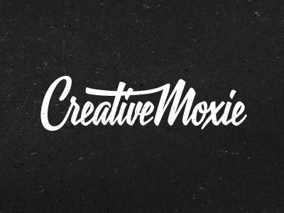 Creative Moxie logo design typo typography creative
