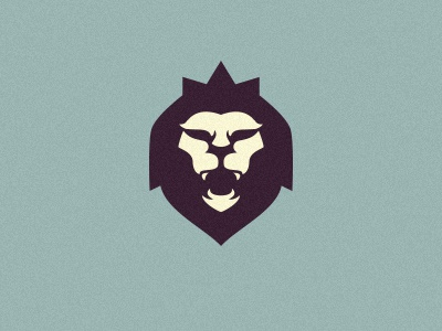 Rising Loyalty  logo lion crown king angry simple icon