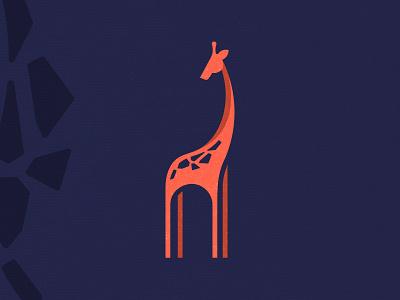 Giraffe geometry animal giraffe logo design branding logo
