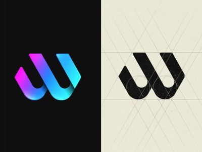 W Logo modern minimal colorful abstract gradient logo w letter w logo inspiration vector geometry design monogram icon logotype logo design branding logo w logo