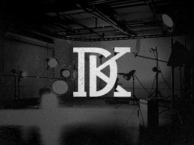 DK logo branding monogram dk vintage logotype letter texture photography